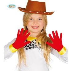 Rode handschoenen kind 22 cm
