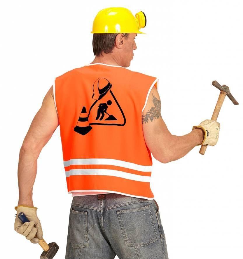 Oranje bouwvakkers vest