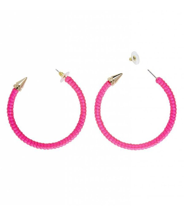 2fb1c7430f5549 Oorbellen neon roze Oorbellen neon roze ...