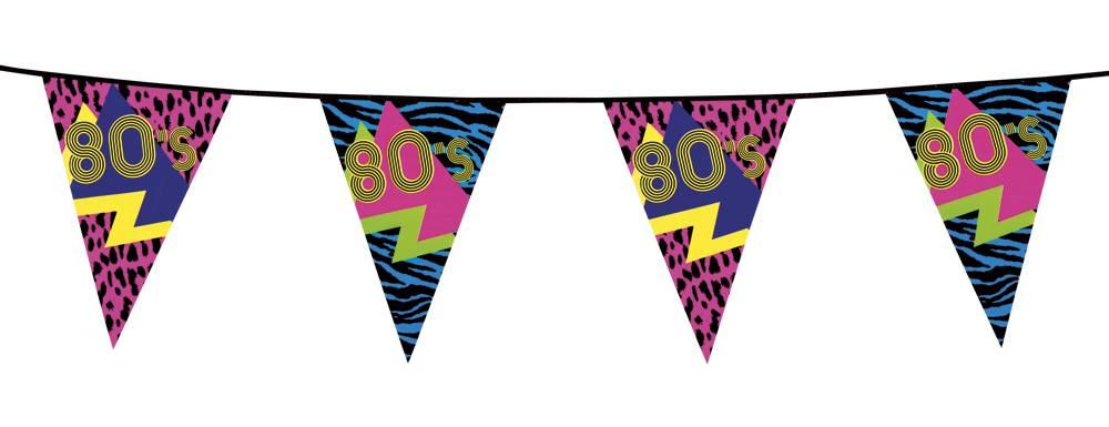 Vlaggenlijn 80's party