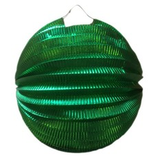 Lampion metallic groen