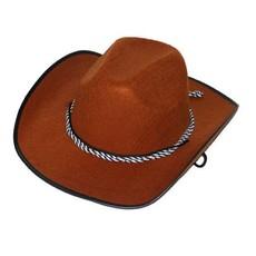 Cowboy hoed bruin met koord