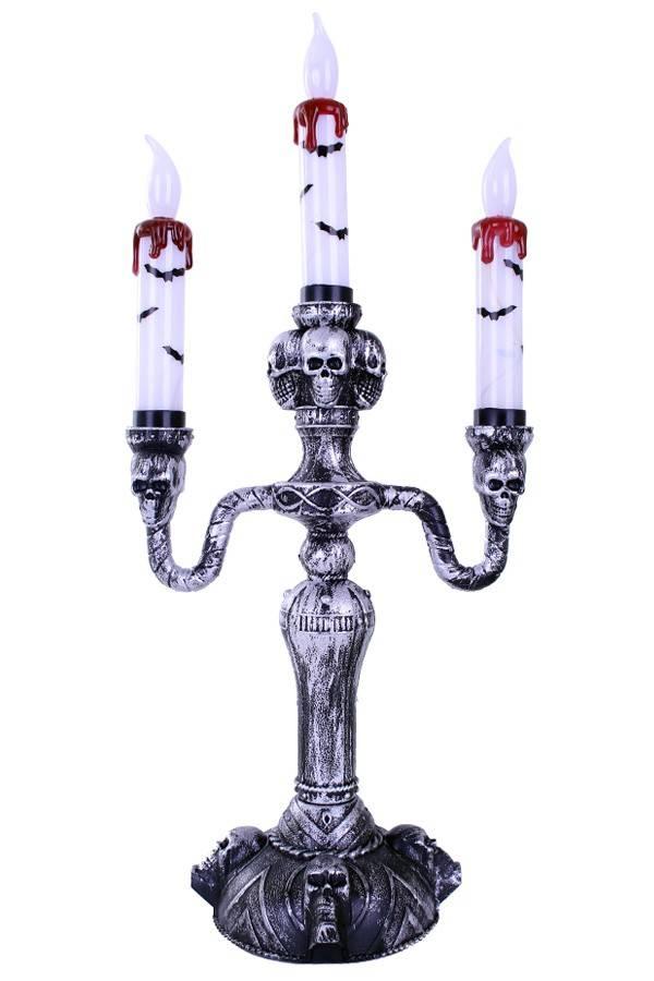 Kandelaar 3 kaarsen horror met licht