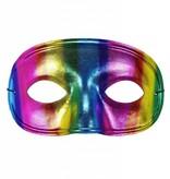 Oogmasker regenboog metallic