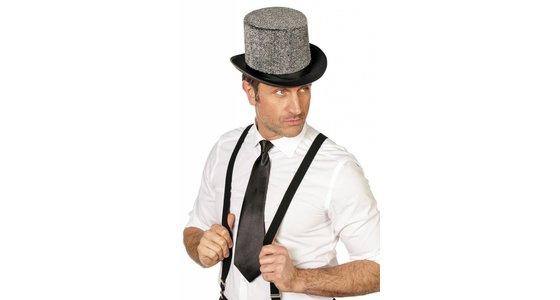 Zwarte stropdas -strik