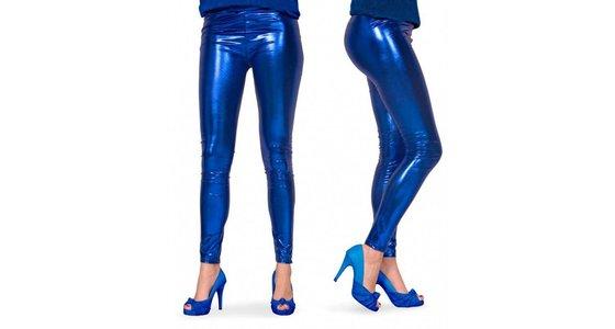 Blauwe legging - panty - kousen
