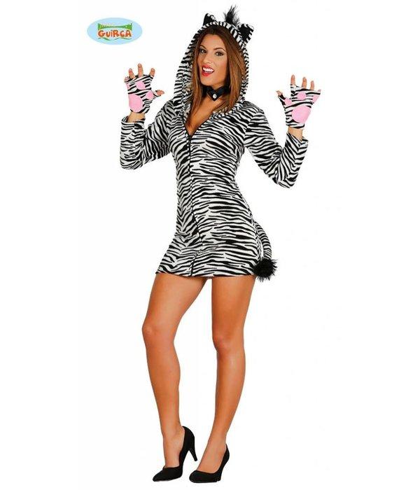 Zebra jurkje dames