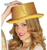 Hoge hoed goudkleurig