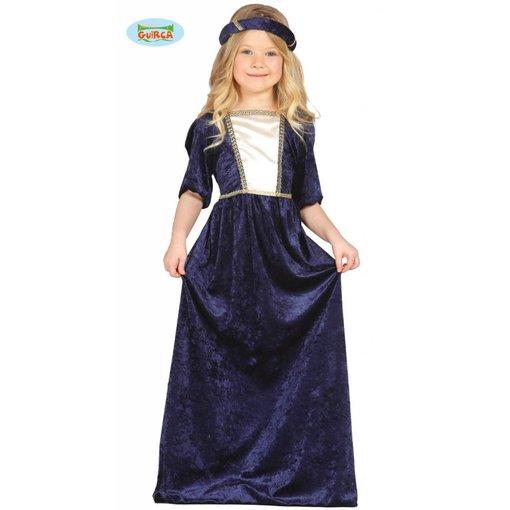 Middeleeuwse prinses meisjes kostuum