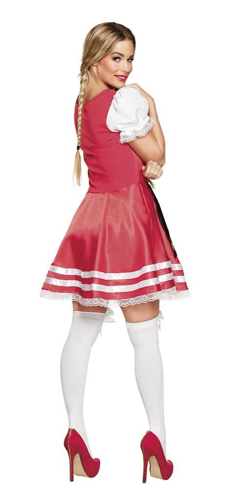 f4c5735e7c6646 Tiroler jurk Helena rood  Tiroler jurk Helena rood