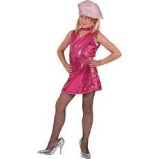 Disco pailletten jurkje kind pink