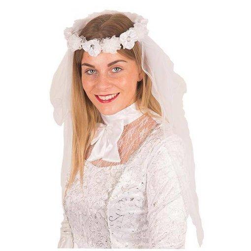 Sluier bruid met bloemen