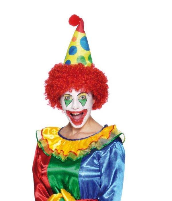 Clownshoed foam met pruik