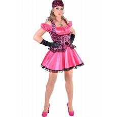 Piraten jurk sexy pink