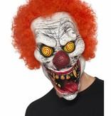 Draaiende ogen Horror clown masker