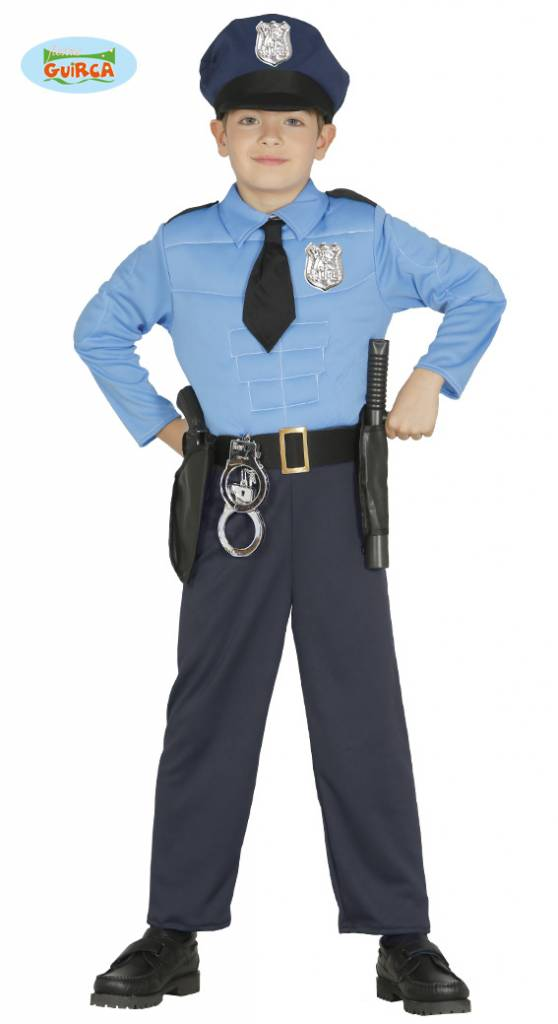 Gespierde Police officier jumpsuit kind