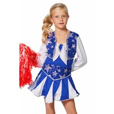 Cheerleader Jurk Kind Blauw