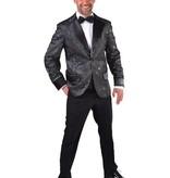 Colbert Man Glitter Zwart