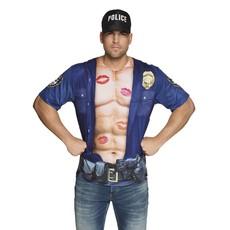 Fotorealistisch shirt Politieagent man