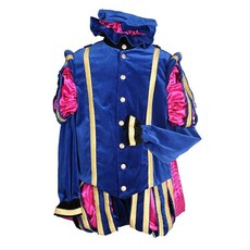 Luxe Pieten kostuum Malaga blauw/pink