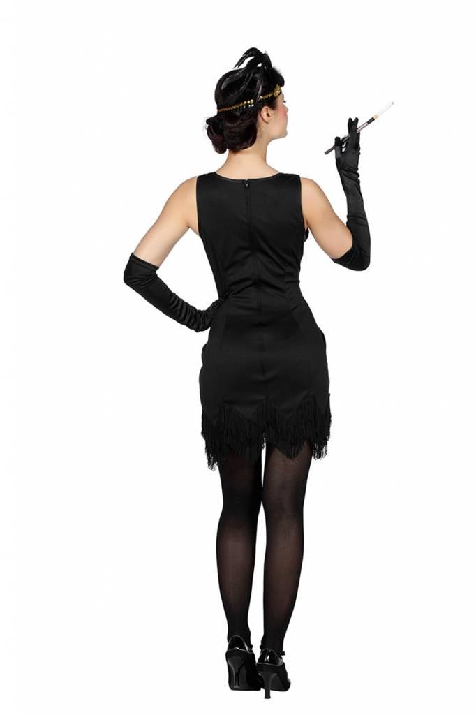 zwart charleston jurkje
