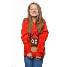 Kersttrui kind rendier rood