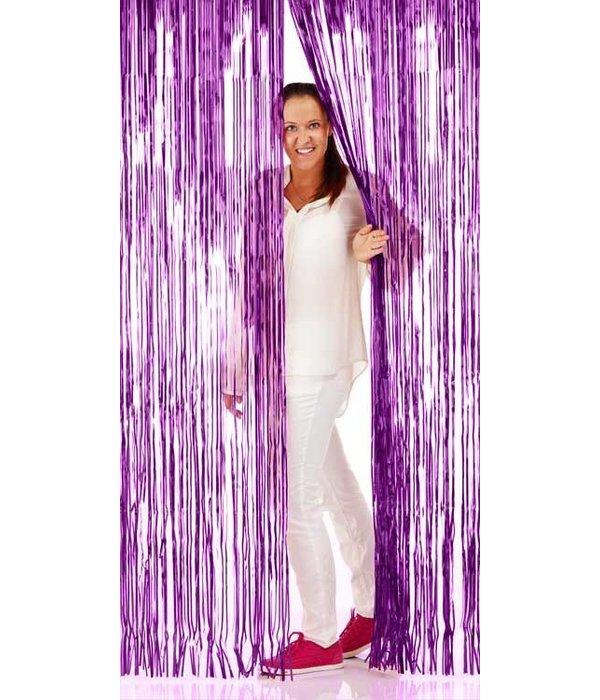 Deurgordijn folie paars