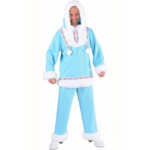 Eskimo kostuum Ice-Blue man
