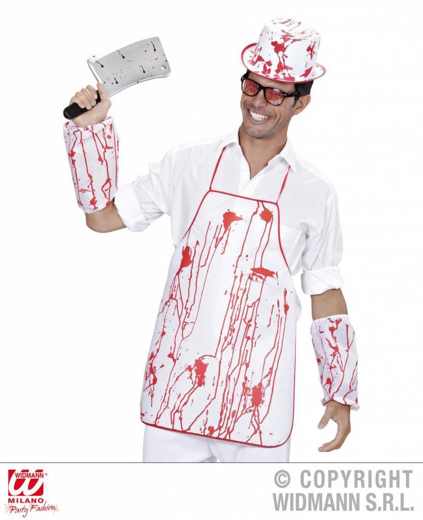 Bloederige slager outfit