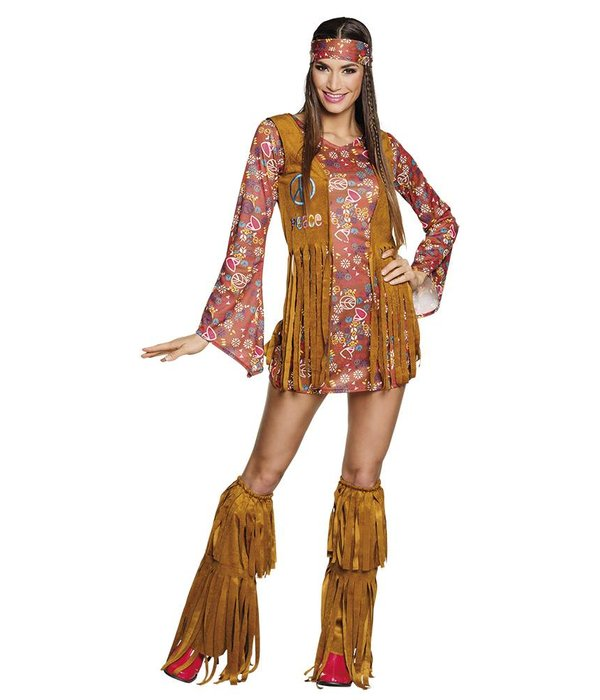 Kostuums Dames.Hippie Hottie Kostuum Dames