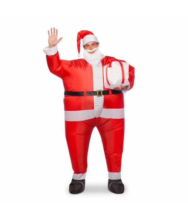 Opblaasbaar kerstmannen pak