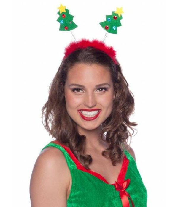 Tiara met kerstbomen