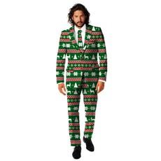 Kerst kostuum Festive Green