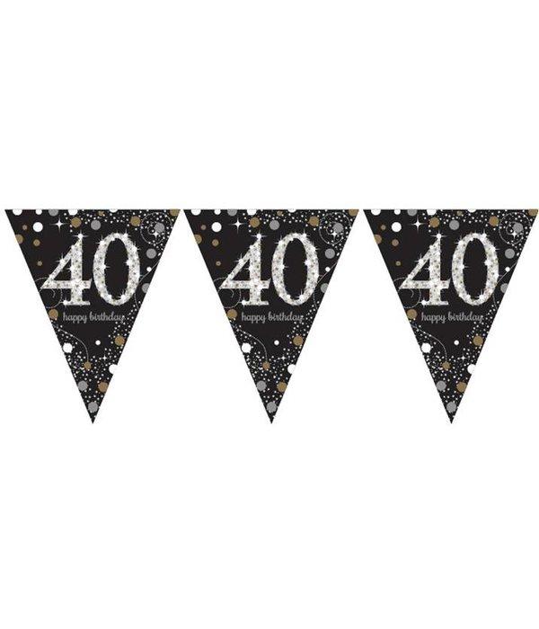 Vlaggenlijn 40 jaar happy birthday