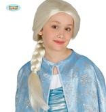 Pruik Elza Frozen kind