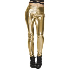 Legging glans goud