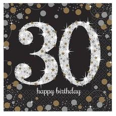 Servetten 30 jaar Sparkling Celebration