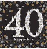 Servetten 40 jaar Sparkling Celebration