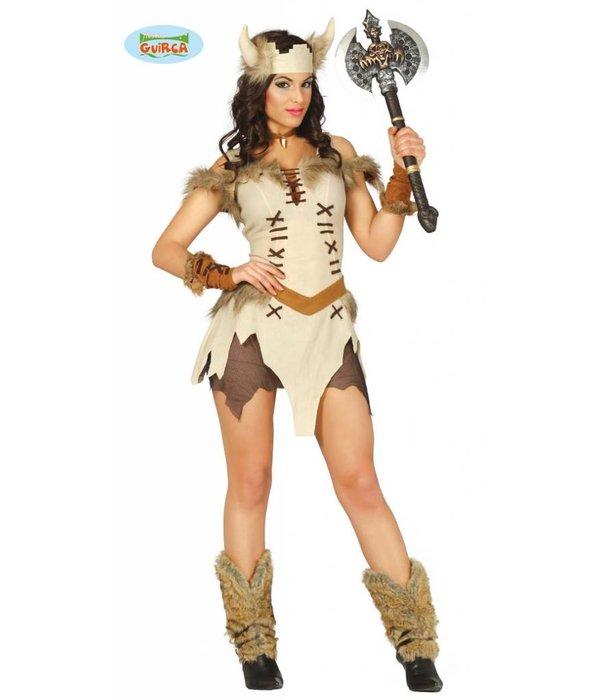 Sexy Viking jurkje met hoofdband