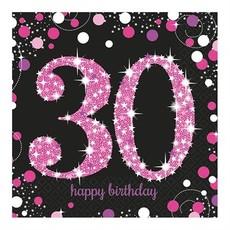 Servetten 30 jaar Sparkling Pink