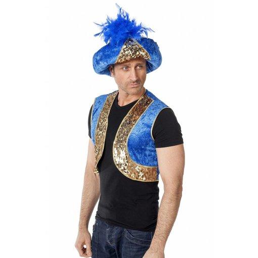 Tulband Blauw met Goud