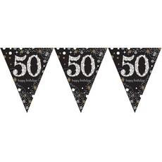 Vlaggenlijn '50' Sparkling Celebration zilver/goud