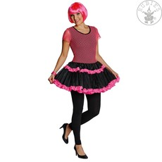 Jaren 80 jurkje visnet neon roze
