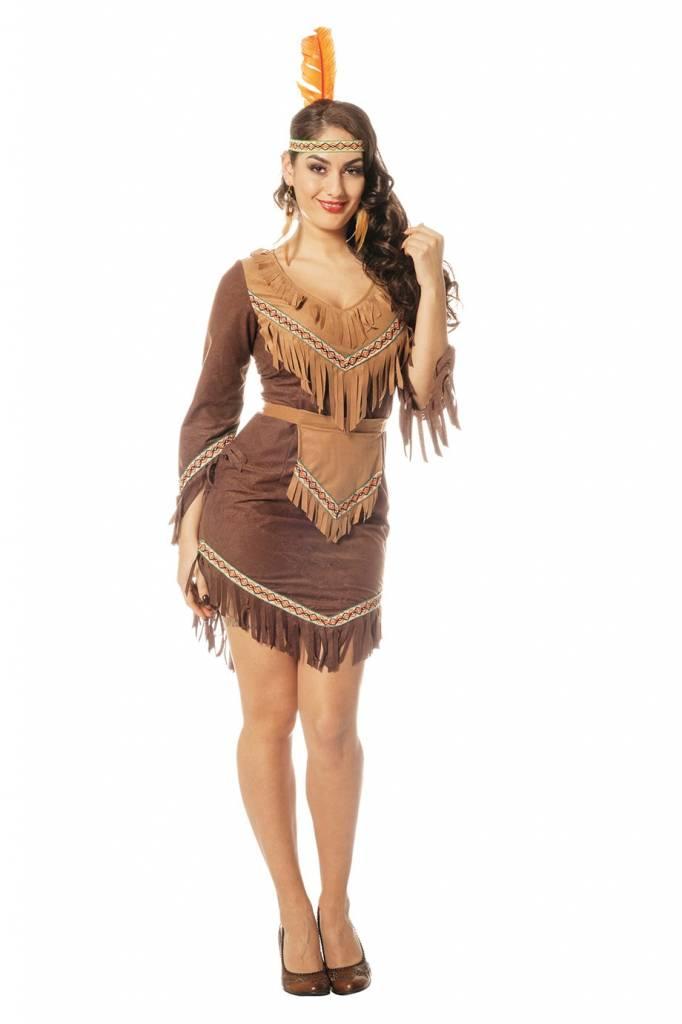 Kostuums Dames.Indianen Vrouw Kostuum Dames