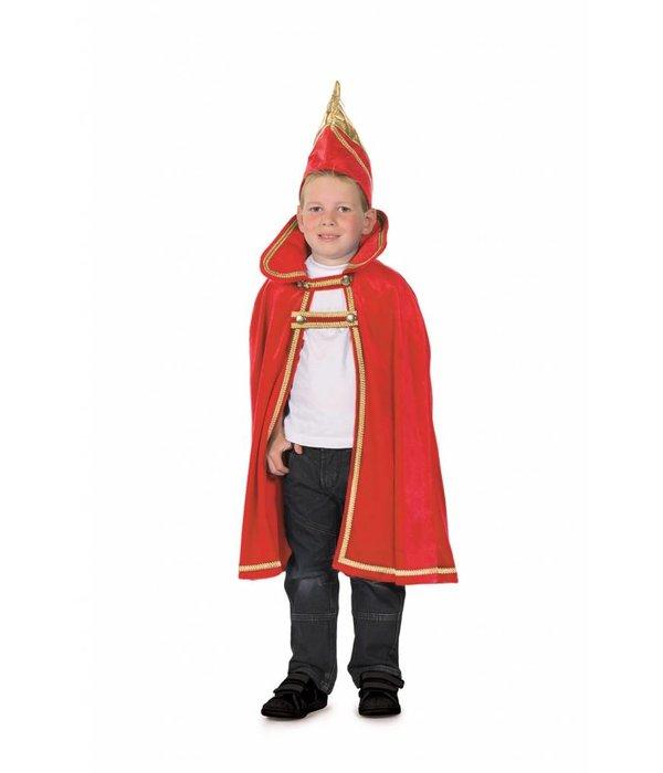 Prinsencape rood met steek kind