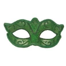Venetiaanse oogmasker groen
