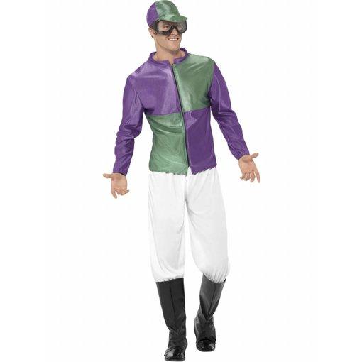 Jockey kostuum groen/paars