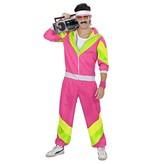 Retro Trainingspak roze/geel