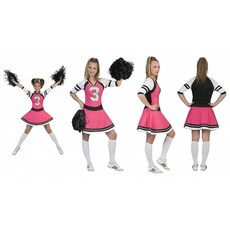 Cheerfull Cheerleader jurkje roze dames