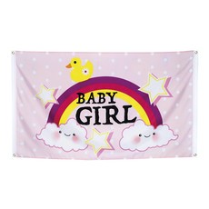 Vlag Baby Girl 90x150cm